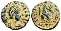 EUDOXIA SALVS REIPVBLICAE FROM ANTIOCH HAND OF GOD OBVERSE AND CHI RHO REVERSE