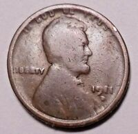 1911 D LINCOLN WHEAT CENT PENNY - NOT STOCK PHOTOS - SHIPS FREE