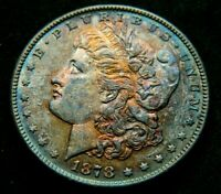 1878-S   $1 MORGAN SILVER DOLLAR  RAINBOW NATURALLY TONED