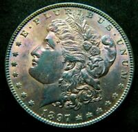 1897-P  $1 MORGAN SILVER DOLLAR NATURALLY TONED