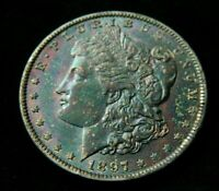 1897-0 KEY DATE.  $1 MORGAN SILVER DOLLAR NATURALLY TONED