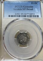 1834 PCGS EXTRA FINE  DETAILS CAPPED BUST SILVER HALF DIME