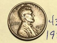 1926-D 1C BN LINCOLN CENT WHEAT CENT 4357K