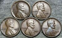 1916-S 1918-S 1925-S 1926-S 1931-D LINCOLN WHEAT CENTS --- LOT--- Z294