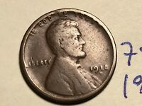 1918-D 1C BN LINCOLN CENT 7500K WHEAT CENT