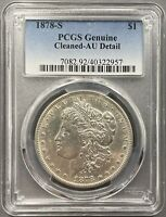 1878-S MORGAN DOLLAR $1 - PCGS AU DETAIL
