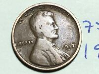 1917 S LINCOLN CENT WHEAT CENT 7592K