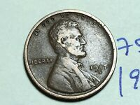 1917 S LINCOLN CENT WHEAT CENT 7594K
