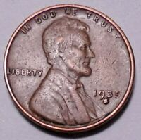 1935 S LINCOLN WHEAT CENT CENT -  NOT STOCK PHOTOS   -  SHIPS FREE