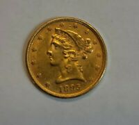 BETTER DATE 1895 P  $5 LIBERTY HEAD HALF EAGLE US GOLD OLD C