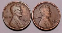 1911 D & 1915 D LINCOLN WHEAT CENT PENNY - LOT OF 2  -  SHIPS FREE