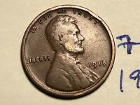 1918 LINCOLN CENT WHEAT CENT 7494K