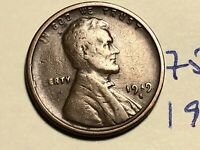 1919 S LINCOLN CENT WHEAT BACK PENNY 7513K