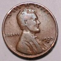 1933 D LINCOLN WHEAT CENT PENNY -  NOT STOCK PHOTOS  -  SHIPS FREE