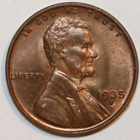 1935 S LINCOLN CENT . UNCIRCULATED           0048