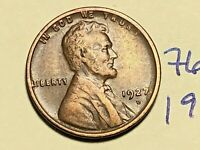 1927 D LINCOLN CENT WHEAT CENT 7622K