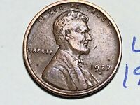 1927 D LINCOLN CENT WHEAT CENT 6221K