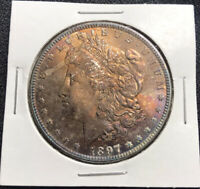 1897 P MORGAN SILVER DOLLAR MS BU UNC WELL STRUCK LUSTROUS COIN
