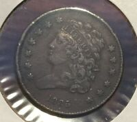 1835 CLASSIC HEAD HALF CENT 398,000 MINTED STRONG DETAILS [44]