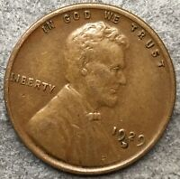 1929 D LINCOLN WHEAT CENT PENNY - HIGHER GRADE  FREE SHIP. E469