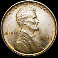 1909 LINCOLN CENT WHEAT CENT ---- GEM BU CONDITION ----  J590