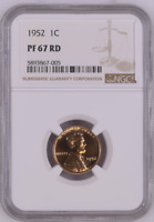 1952 PROOF LINCOLN WHEAT CENT PENNY 1C NGC CERTIFIED PR68,  PF67 RD