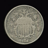 1868    FINE     SHIELD NICKEL 401-401