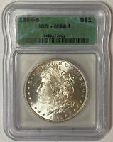 1894-S MORGAN SILVER DOLLAR - HIGH GRADE- ICG MINT STATE 64