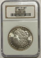 1880-CC MORGAN SILVER DOLLAR - HIGH GRADE- NGC MINT STATE 64 - FROSTY - GREAT EYE APPEAL