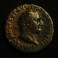 AS EMPEROR TITUS AS AUGUSTUS RV SPES WITH FLOWER 9.90 GRAMS 26 7MM ROME AD 80