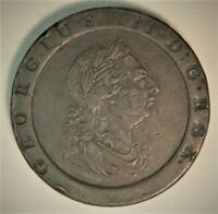 1797 GREAT BRITAIN 2 PENCE COPPER CARTWHEEL COIN  VERY NICE