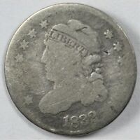 1832 CAPPED BUST EARLY US SILVER HALF DIME H10C