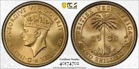 1938 KN BRITISH WEST AFRICA 2 SHILLING PCGS SP67   KINGS NOR