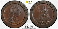 1797 GREAT BRITAIN PENNY PCGS MS62 BN