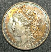 1889-S MORGAN SILVER DOLLAR TONED