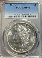 1891-O PCGS MINT STATE 62 MORGAN SILVER DOLLAR