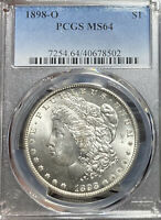 1898-O PCGS MINT STATE 64 MORGAN SILVER DOLLAR