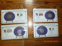 4- MORGAN SILVER DOLLARS - PCS COLLECTION  STAMPS 1881-0,1882-0,1883,1884-0