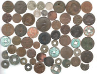 SIXTY VERY OLD COINS  ANCIENT 1700'S & EARLY 1800'S  WITH SI