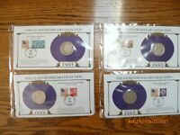 4- MORGAN SILVER DOLLARS - PCS COLLECTION  STAMPS 1885-0,1886-0,1887-0,1888-0