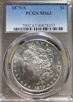 1879-S PCGS MINT STATE 63 MORGAN SILVER DOLLAR