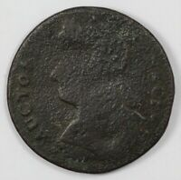 1787 CONNECTICUT COLONIAL DRAPED BUST LEFT EARLY US COPPER C
