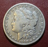 1900-S $1 MORGAN SILVER DOLLAR IN FINE CONDITION SHIPS FREE