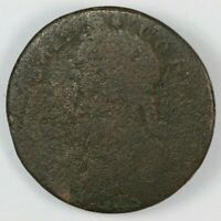 1787 CONNECTICUT DRAPED BUST LEFT COLONIAL COPPER COIN   MIL