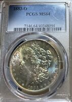 1883-O PCGS MINT STATE 64 MORGAN SILVER DOLLAR