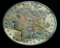 1879-S REV 78  $1 MORGAN SILVER DOLLAR NATURALLY TONED.REVERSE 1878 TOP-100