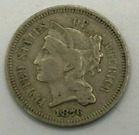 1876 3 CENT NICKEL, US COINS