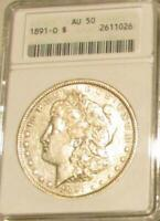 1891-O MORGAN DOLLAR  AU-50