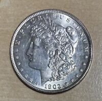 1903 AU MORGAN SILVER DOLLAR