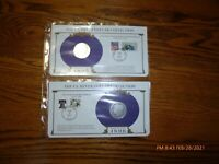 2- MORGAN SILVER DOLLARS - PCS COLLECTION  STAMPS 1895-0  1896-0 90 SILVER
